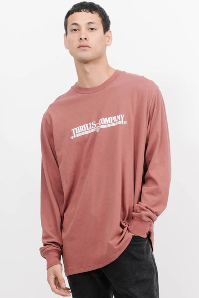 [의류]Men Up To Speed Merch Fit Long Sleeve Tee  Faded Red스릴스 업투마치핏롱스리브티